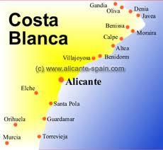 Map Costa Blanca